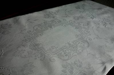 a - Ancienne NAPPE - Superbes Grands Monogrammes